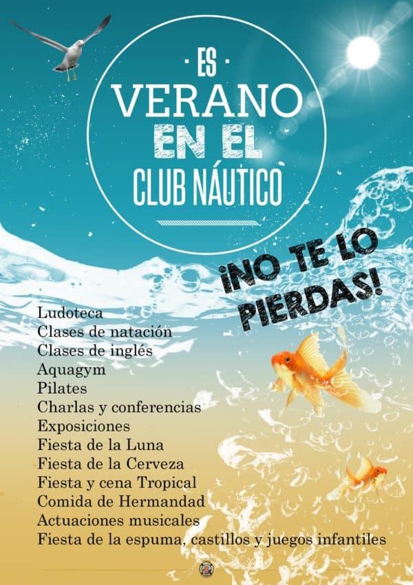 cartel verano club náutico