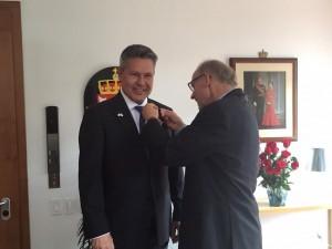 José Antolín Mendoza y el Embajador de Noruega en Colombia, Lars Vaagen