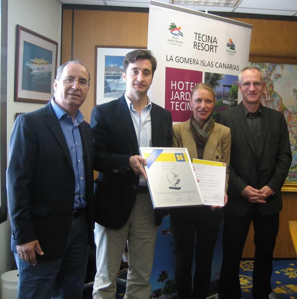 El hotel jard n tecina es premiado con neckermann primo for Oficinas fred olsen