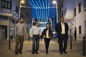 Representantes de Coalición Canaria en la Calle de El Medio de San Sebastián de La Gomera