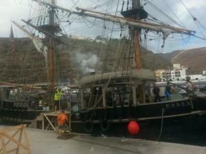 Embarcación utilizada para el rodaje