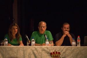 Los representantes insulares y el Alcalde de Vallehermoso durante las jornadas