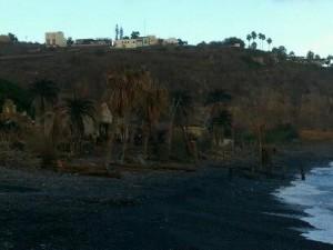Plató de la película rodada en Playa de Santiago