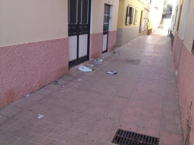 Imagen de una calle de San Sebastián (Foto remitida por el G.M. Socialista)