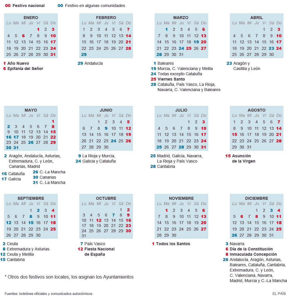 calendarios fiestas