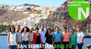 Candidatura de Nuevas Canarias en las pasadas elecciones municipales al Ayuntamiento de San Sebastián de La Gomera