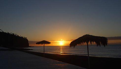 Imagen del amanecer este miércoles en Playa de Santiago (Foto Erasmo Ramos)