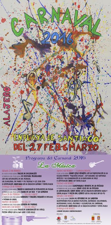 Cartel del Carnaval de Playa de Santiago