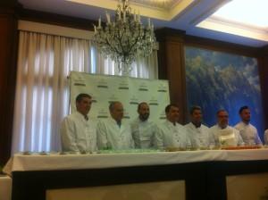 Casimiro Curbelo en la presentación de Gastrocanarias