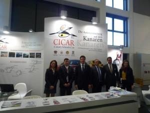 El Ministro de Turismo visita el stand de CICAR en la ITB (Foto remitida por CICAR)