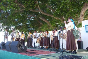 Acto Día de Canarias en Alajeró. Foto Erasmo Ramos