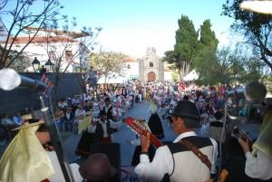 Actuación en el Día de Canarias en Alajeró Foto Erasmo Ramos