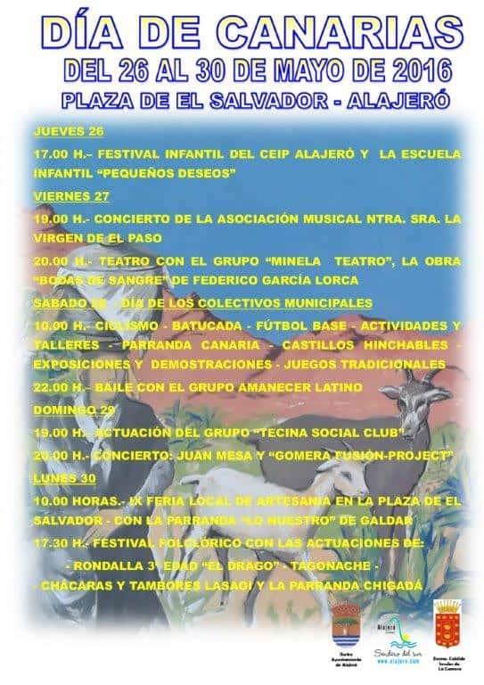 Programa del Día de Canarias en Alajeró