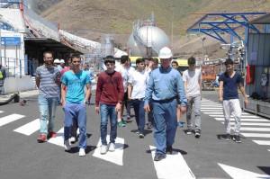 Grupo de alumnos en su visita a las instalaciones