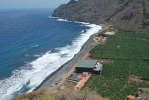 Playa de Santa Catalina en Hermigua