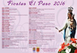 Programa de las fiestas de El Paso 2016