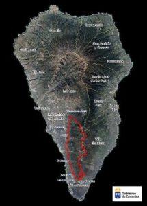 Perimetrado del incendio forestal que desde el miércoles afecta a La Palma./(EFE)
