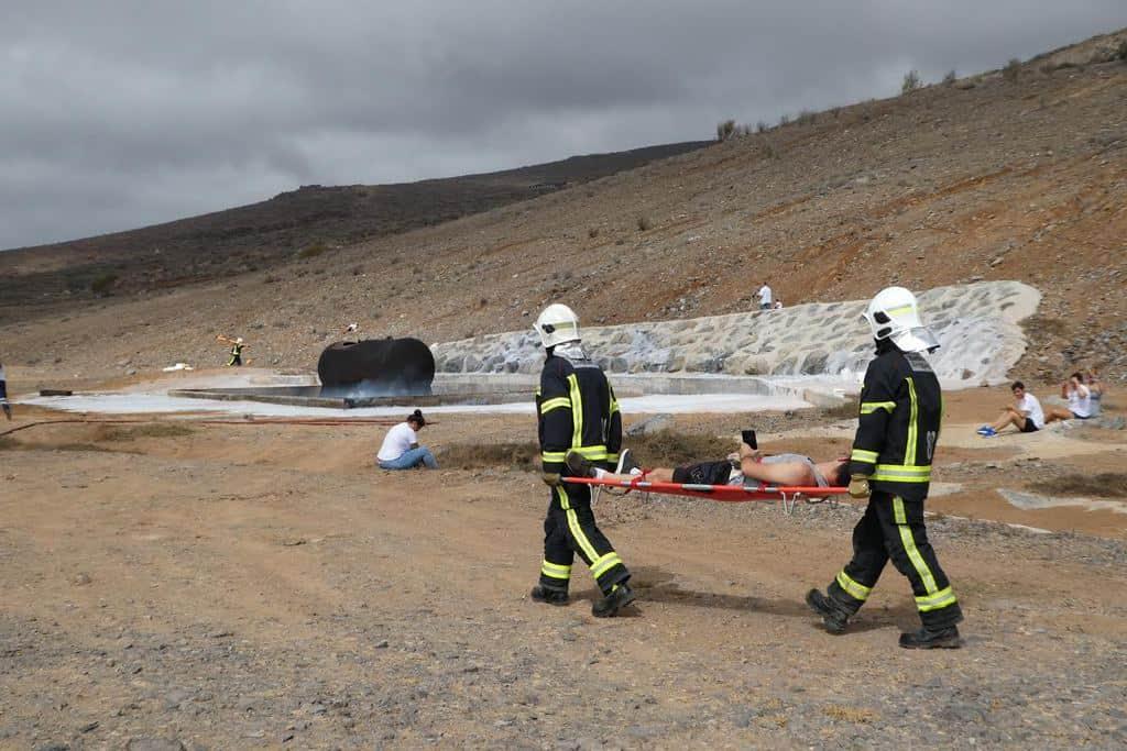El Aeropuerto de La Gomera realiza un simulacro general de accidente aéreo
