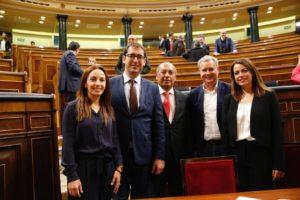 Parlamentarios del PSOE en Madrid