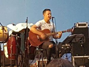 Nauzet durante su concierto