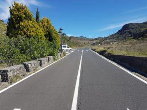 Carretera de Alajeró por Pajarete