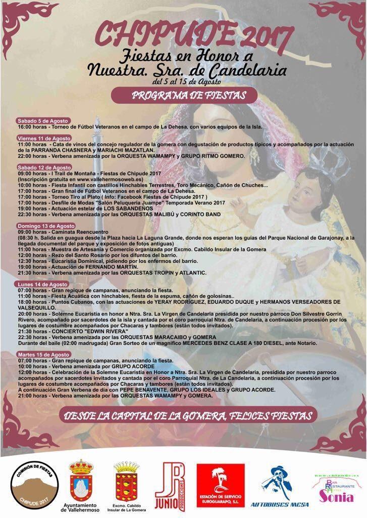 Programa Fiestas de Chipude 2017