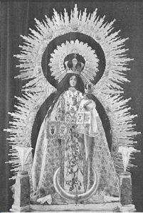 Antigua fotografía de la Virgen de las Mercedes de Agulo (1927)