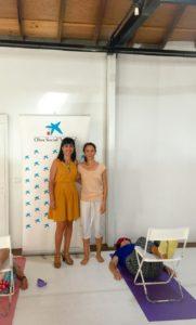 Representantes de La Caixa y Centro Coreográfico