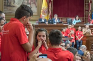 Silbo de La Gomera en el Parlamento de Canarias
