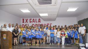 Deportistas reconocidos en la Gala del Deporte de Alajeró