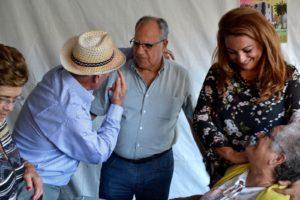 Casimiro Curbelo y Cristina Valido en el encuentro de mayores
