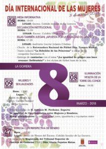 Cartel Día de la Mujer 2018 Cabildo de La Gomera
