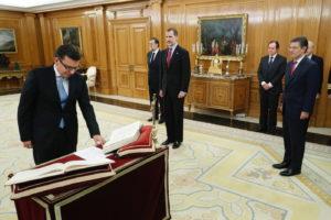 Jura del Ministro Román Escolano Olivares