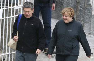 Angela Merkel y su marido (Foto de archivo de www.revistavanityfair.es)