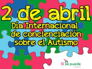 A colorful autism awareness puzzle background illustration. Vector EPS 10.