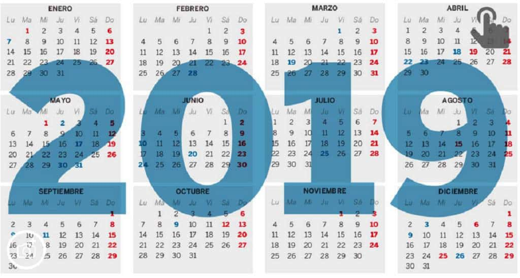 Calendario Laboral Espana 2019.El Calendario Laboral De 2019 Solo Permite Un Gran Puente Festivo En