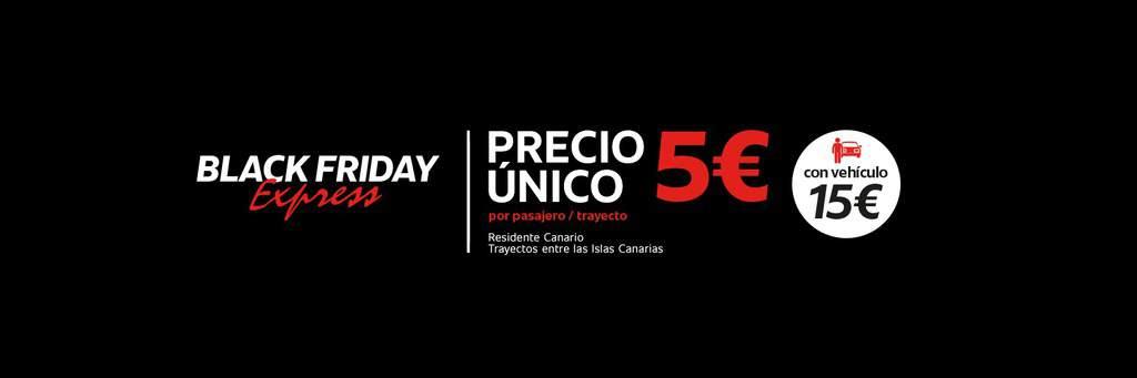 Fred. Olsen Express anuncia 100.000 plazas a 5€ entre islas con motivo de Black Friday Express