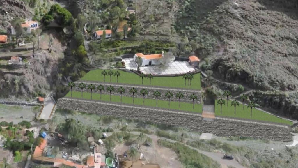 El Cabildo de La Gomera invierte 774 mil euros en el acondicionamiento del talud de la Ermita de Los Santos Reyes